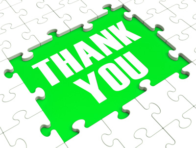 saying thank you with social media